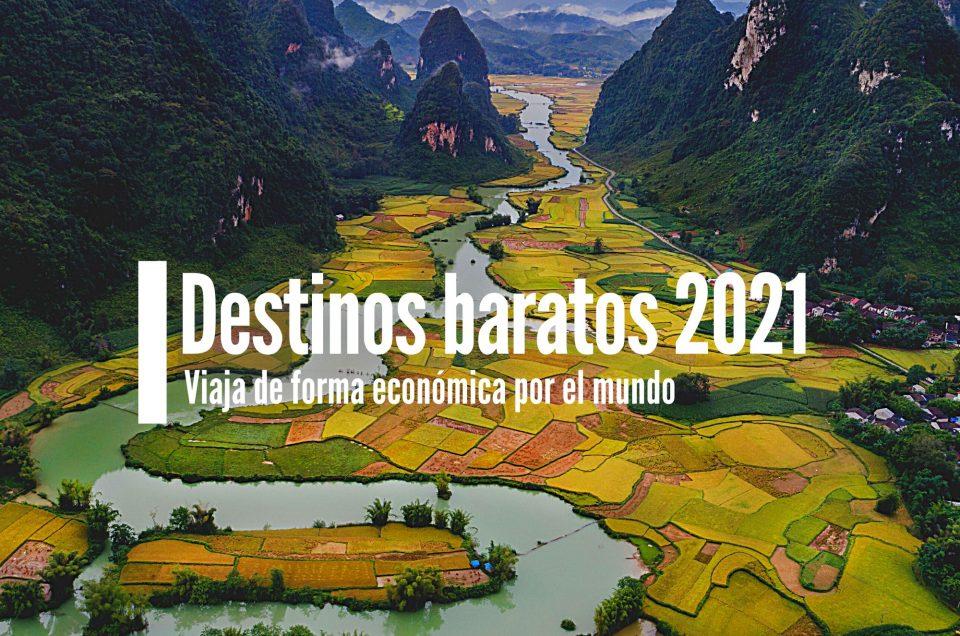 DESTINOS MÁS BARATOS DEL 2021